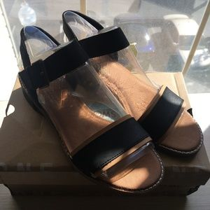 NWT black and tan Toms sandals